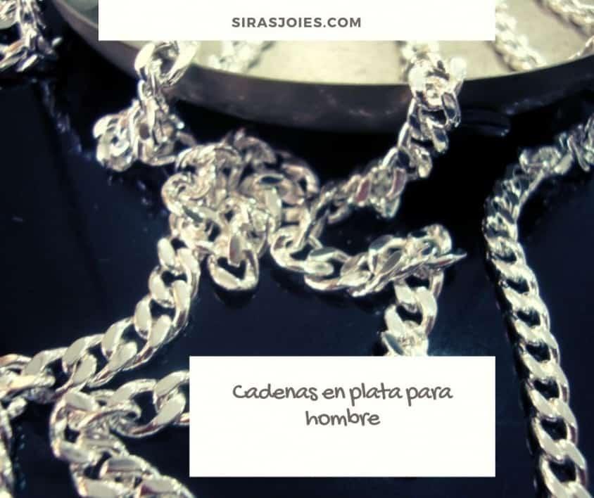 cadenas plata para hombre